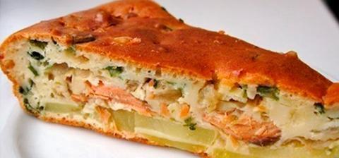 Рыбный пирог с сыром