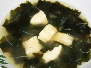 Суп с водорослями