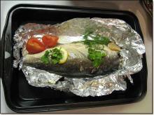 Рыба в фольге под майонезом