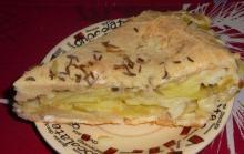Рыбный пирог из жидкого теста