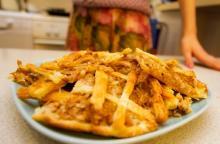 Рыбный пирог с картофелем